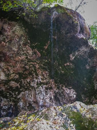 mancha: Landscape at source of the river Cuervo, Cuenca, Castilla la Mancha, Spain