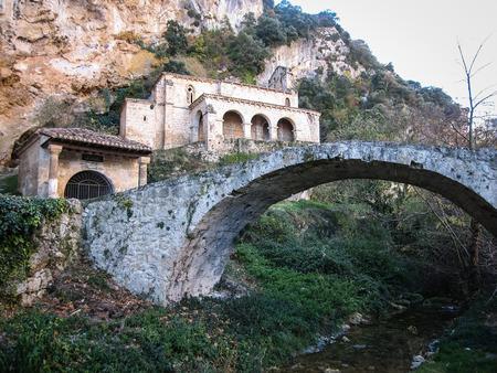 castilla y leon: Image of Small church at the side of the road, Tobera, Burgos, Castilla y Leon, Spain