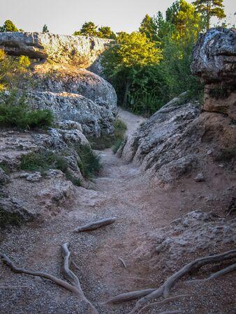 mancha: Image of Unique rock formations in enchanted city of Cuenca, Castilla la Mancha, Spain Stock Photo