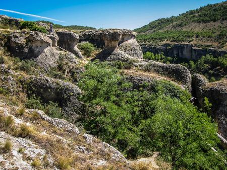 도시 쿠 엥카와 이상한 암석으로의 경치와 특이한 전망