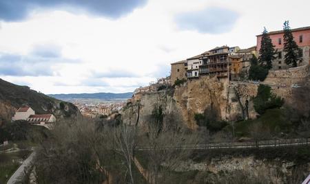 castilla la mancha: Image of hanging houses in Cuenca, Castilla la Mancha, Spain