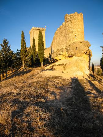 castilla y leon: Ruins of a castle at Penaranda del Duero, Burgos, Castilla y Leon, Spain