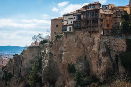 쿠 엥카, 카스티야 라 만차, 스페인의 주택 매달려 이미지