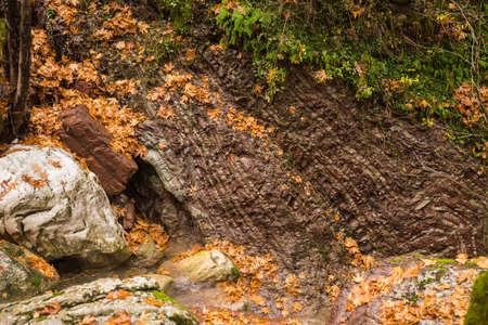 karpenisi: Scenic mountain autumn landscape at Evitania, Greece