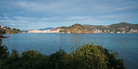 poros: Scenic seascape at island of Poros, Greece Stock Photo