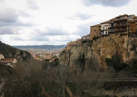 cuenca: Image of hanging houses in Cuenca, Castilla la Mancha, Spain