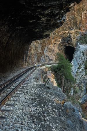narrow gauge railroads: Mountain landscape at Vouraikos gorge, Peloponnese, Greece