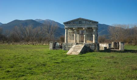 and arcadia: Image of Temple of Poseidon at Ancient Mantineia, Arcadia, Peloponnese, Greece Stock Photo