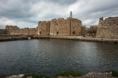 union beach: Image of Fortress and bridge at Rio, Patra, Peloponnese, Greece