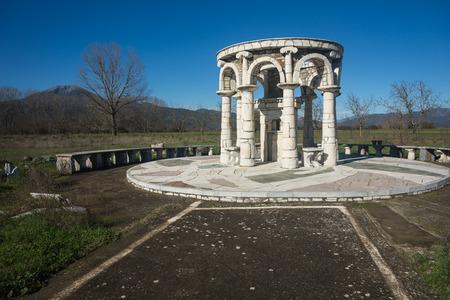 arcadia: Image of Temple at Ancient Mantineia, Arcadia, Peloponnese, Greece
