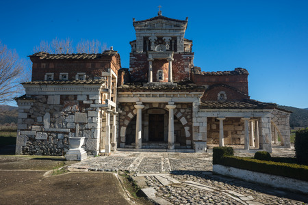 and arcadia: Image of Church at Ancient Mantineia, Arcadia, Peloponnese, Greece Stock Photo