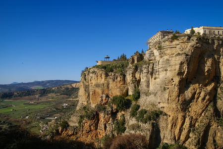 ronda: Scenic landscape with mountains at Ronda, Andalusia, Spain