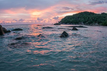 sunrises: Amazing scenic Sunsets and sunrises at Cristal Bay, Samui, Thailand