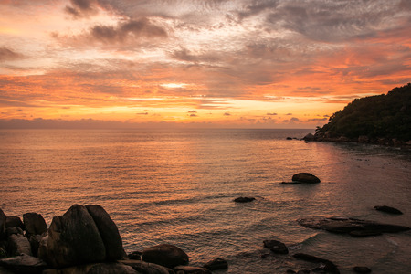 cristal: Amazing scenic Sunsets and sunrises at Cristal Bay, Samui, Thailand