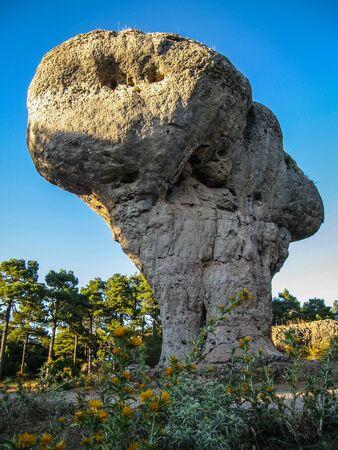 Image of Unique rock formations in enchanted city of Cuenca, Castilla la Mancha, Spain 스톡 콘텐츠