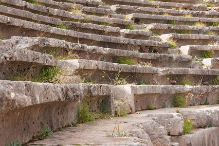 teatro antiguo: Image of Ruins of an ancient greek theatre at Delphi, Greece