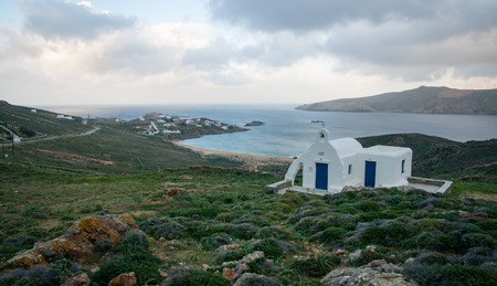 small houses: Beautiful landscape with small houses at Mikonos island, Greece