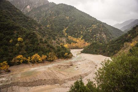 evritania: Scenic mountain autumn landscape at Evritania, Greece