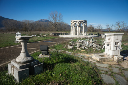 and arcadia: Image of Temple at Ancient Mantineia, Arcadia, Peloponnese, Greece