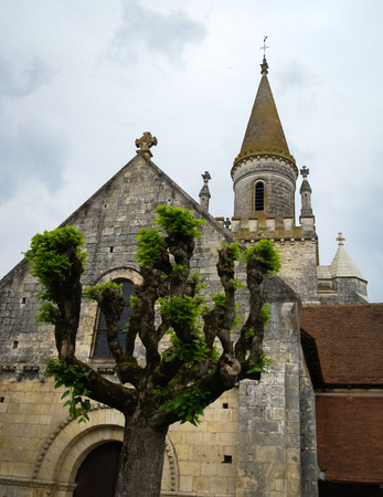 le: Image of a church, Le Breul, France Stock Photo