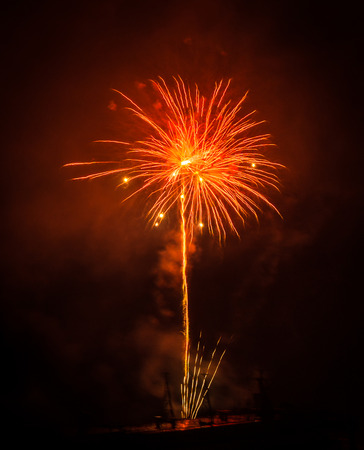 fires artificial: Image of Fireworks in Patras, Peloponnese, Greece