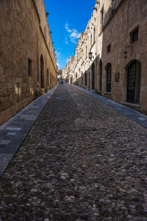 Scenic and beautiful cityscape at Rhodes old town, Greece