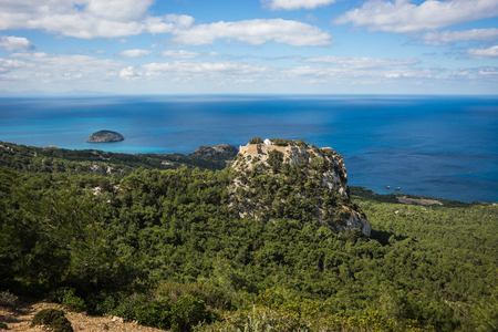 Image of ruins of Monolithos castle on Rhodes island in Greece