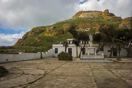 sacre coeur: Image de Monast�re de Sacr� p�lerinage du c?ur au bas de la montagne Exomvourgo