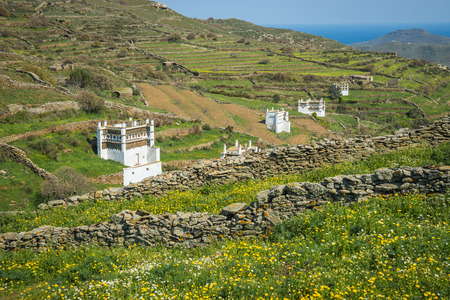 Image of pigeon houses on the island of Tinos in Greece Reklamní fotografie