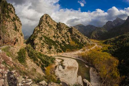 evritania: Scenic mountain autumn landscape with a river, Evritania, Greece
