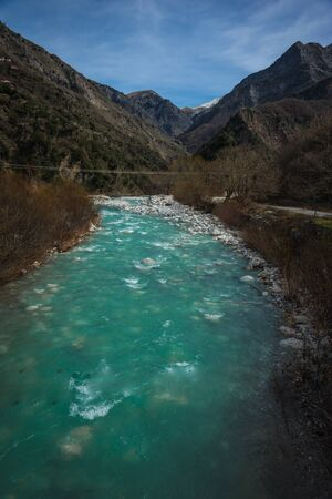 rare rocks: Image of river with green waters near Meteora in Greece