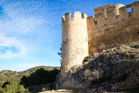 murcia: Ruins of Castle at Biar, Valencia y Murcia, Spain Stock Photo