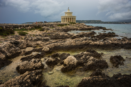 theodore: Lighthouse of Saint Theodore on a cape near Argostoli in Kefalonia, Greece Stock Photo