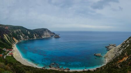 Picturesque Petani beach on the island of Kefalonia in Greece