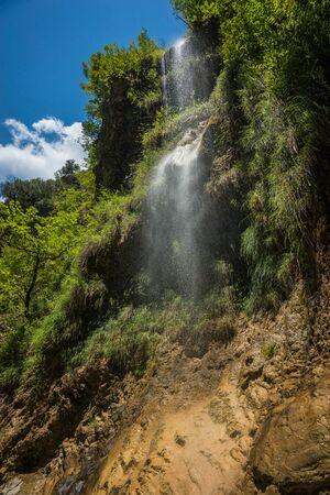 evritania: Waterfalls on the river Krikiliotis at Panta Vrexei in Evritania in Greece