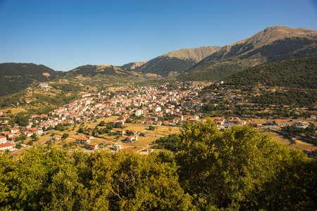 evritania: Scenic cityview at mountain village of Karpenisi, Evritania, Greece