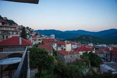 karpenisi: Scenic cityview at mountain village of Karpenisi, Evritania, Greece