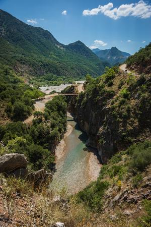 karpenisi: Scenic mountain  landscape with Krikiliotis river, Evritania, Greece