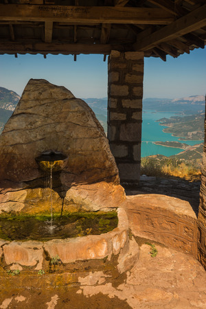 evritania: Scenic view from the mountain to Kremaston lake in  Evritania, Greece