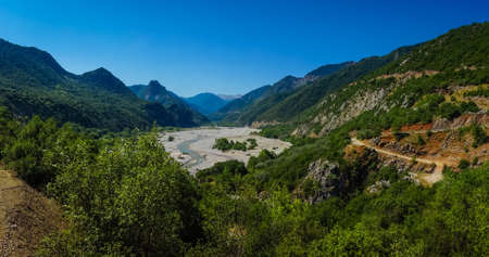 evritania: Scenic mountain  landscape with Krikeliotis river at Evritania in Greece Stock Photo