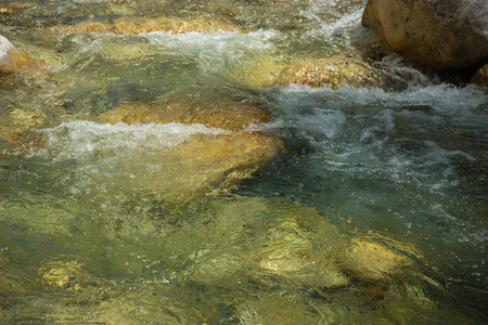 evritania: Mountain river gorge near Panta Vrexei in Evritania in Greece