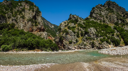 evritania: Scenic mountain  landscape with Krikiliotis river, Evritania, Greece