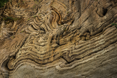 stunningly: Stunningly beautiful original stone walls of the gorge Panta Vrexei in Evritaniia in Greece Stock Photo