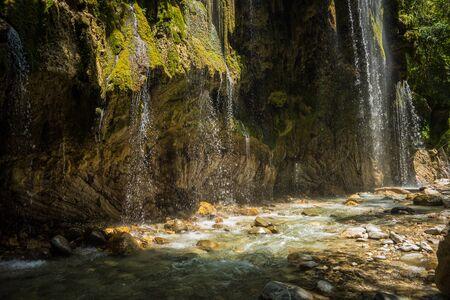 karpenisi: Waterfalls on the river Krikiliotis at Panta Vrexei in Evritania in Greece
