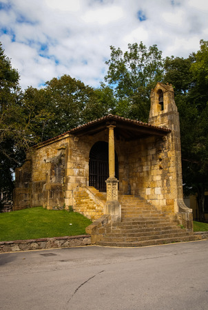 Image of Chapel of the Holy Cross in Cangas de Onis Asturias. Spain