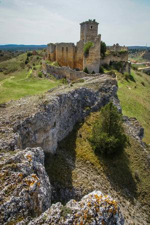 Image of medieval castle in Ucero, Soria, Castilla y Leon, Spain