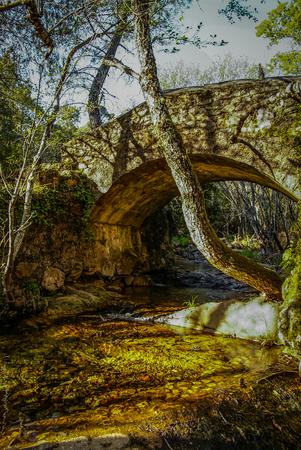 convento: Bridge over small river at Convento de las Batuecas, Salamanca, Castilla y Leon, Spain
