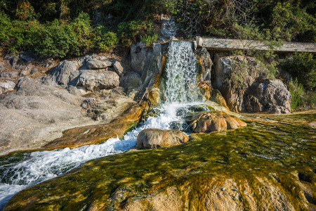 Image of picturesque thermal springs in Thermopiles, Greece Stock Photo