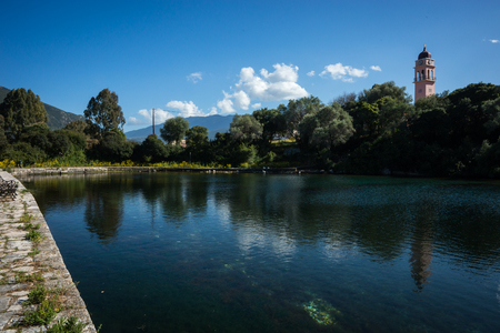 ionian: Image of lake Karavomilos at Kefalonia island in Greece