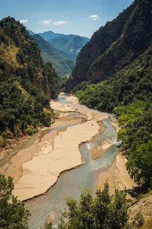 Scenic mountain  landscape with Krikiliotis river, Evritania, Greece